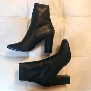 Express Leather Heeled Booties